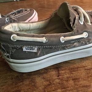 Vans Distressed Zapato Del Barco Skate Mens Size 9